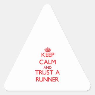 Keep Calm and Trust a Runner Triangle Sticker