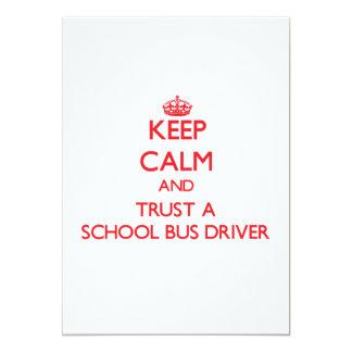"Keep Calm and Trust a School Bus Driver 5"" X 7"" Invitation Card"