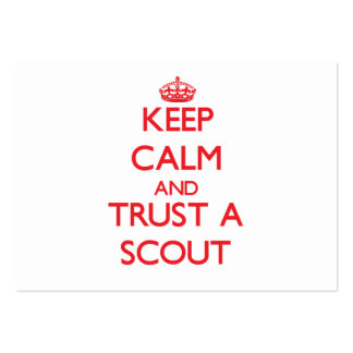 Keep Calm and Trust a Scout Business Card Template