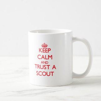 Keep Calm and Trust a Scout Classic White Coffee Mug