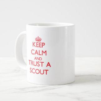 Keep Calm and Trust a Scout Jumbo Mug
