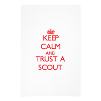 Keep Calm and Trust a Scout Stationery