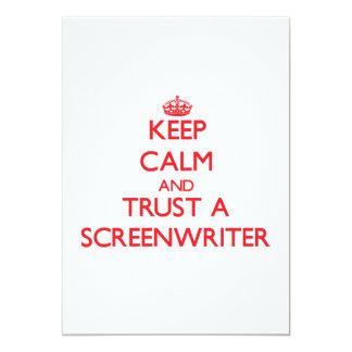 "Keep Calm and Trust a Screenwriter 5"" X 7"" Invitation Card"