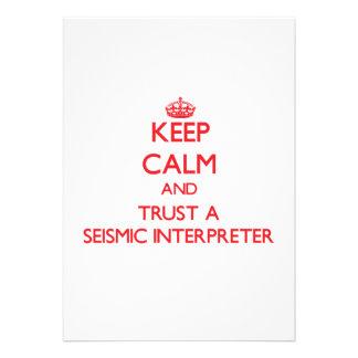 Keep Calm and Trust a Seismic Interpreter Announcements
