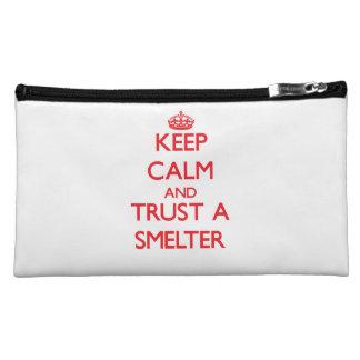 Keep Calm and Trust a Smelter Makeup Bag