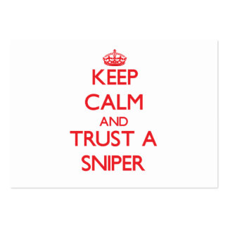 Keep Calm and Trust a Sniper Business Card Template