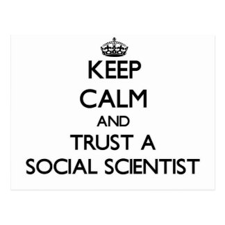 Keep Calm and Trust a Social Scientist Postcard
