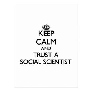 Keep Calm and Trust a Social Scientist Post Card