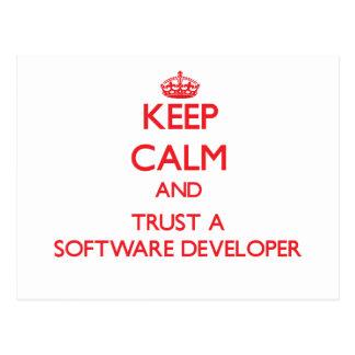 Keep Calm and Trust a Software Developer Post Card