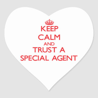 Keep Calm and Trust a Special Agent Heart Stickers
