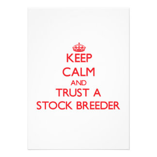 Keep Calm and Trust a Stock Breeder Invitation