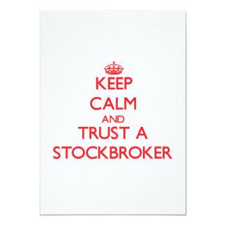 Keep Calm and Trust a Stockbroker 5x7 Paper Invitation Card