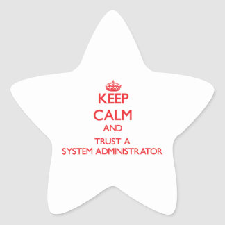 Keep Calm and Trust a System Administrator Sticker