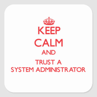 Keep Calm and Trust a System Administrator Stickers