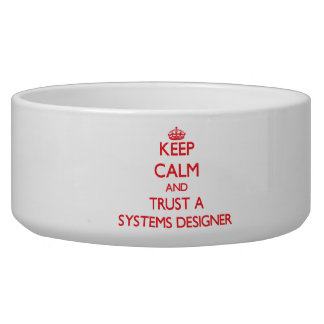 Keep Calm and Trust a Systems Designer Pet Water Bowls