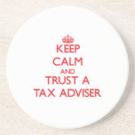 Keep Calm and Trust a Tax Adviser Beverage Coasters