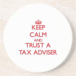 Keep Calm and Trust a Tax Adviser Coaster