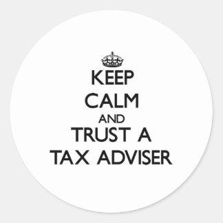 Keep Calm and Trust a Tax Adviser Sticker