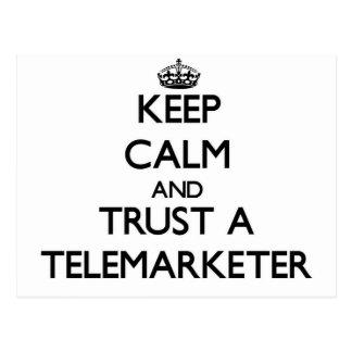 Keep Calm and Trust a Telemarketer Postcard