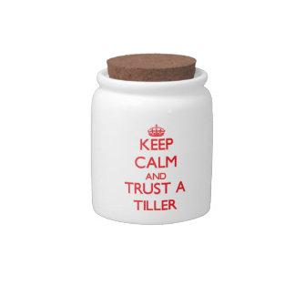 Keep Calm and Trust a Tiller Candy Jar