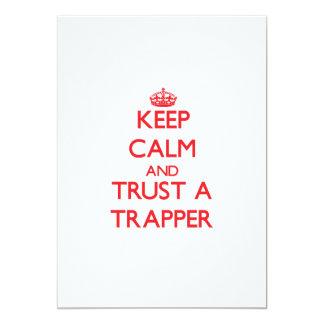Keep Calm and Trust a Trapper Custom Invitations
