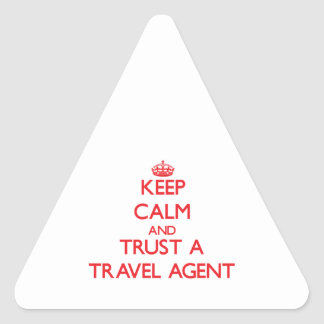 Keep Calm and Trust a Travel Agent Sticker