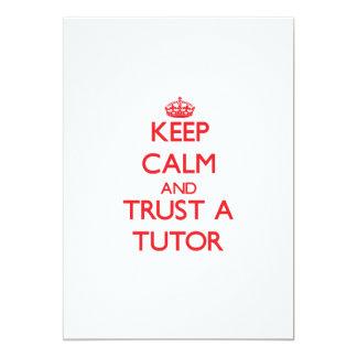 Keep Calm and Trust a Tutor 5x7 Paper Invitation Card
