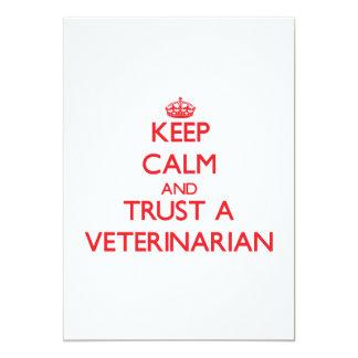 "Keep Calm and Trust a Veterinarian 5"" X 7"" Invitation Card"