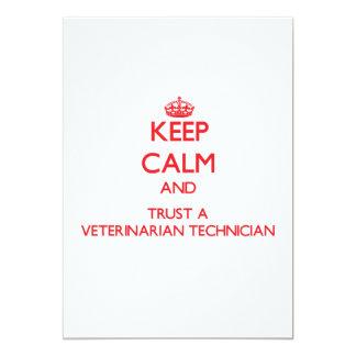 Keep Calm and Trust a Veterinarian Technician 5x7 Paper Invitation Card