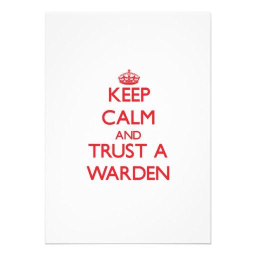 Keep Calm and Trust a Warden Custom Invite