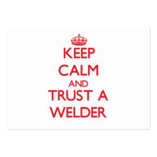 Keep Calm and Trust a Welder Business Card
