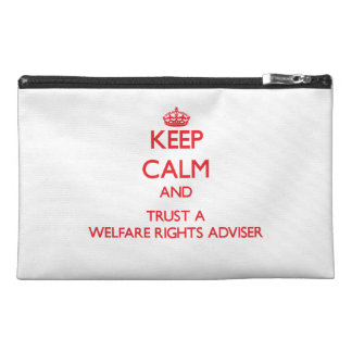 Keep Calm and Trust a Welfare Rights Adviser Travel Accessories Bag