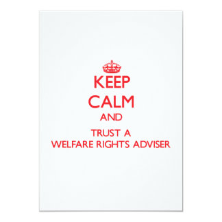 Keep Calm and Trust a Welfare Rights Adviser Announcement