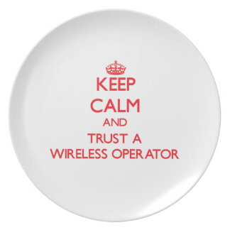 Keep Calm and Trust a Wireless Operator Party Plates