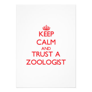 Keep Calm and Trust a Zoologist Personalized Announcement
