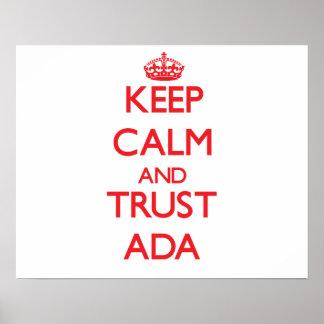 Keep Calm and TRUST Ada Print