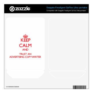 Keep Calm and Trust an Advertising Copywriter FreeAgent GoFlex Decal