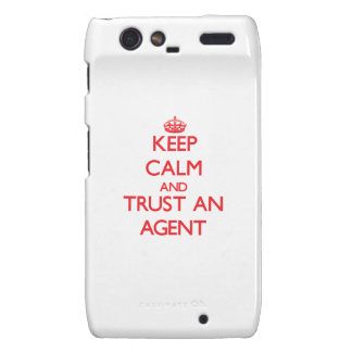 Keep Calm and Trust an Agent Droid RAZR Cover