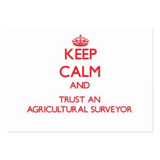 Keep Calm and Trust an Agricultural Surveyor Business Card