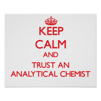 Keep Calm and Trust an Analytical Chemist Posters