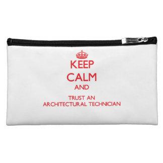 Keep Calm and Trust an Architectural Technician Makeup Bag