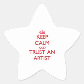 Keep Calm and Trust an Artist Star Sticker