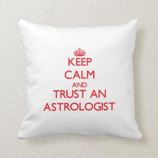 Keep Calm and Trust an Astrologist Throw Pillow