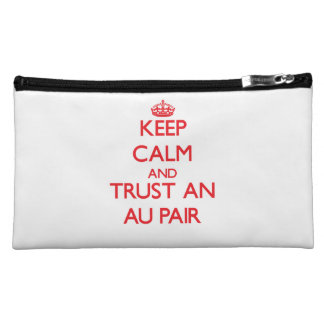 Keep Calm and Trust an Au Pair Cosmetics Bags