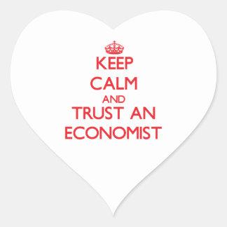 Keep Calm and Trust an Economist Heart Sticker
