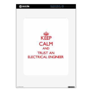 Keep Calm and Trust an Electrical Engineer iPad Decal