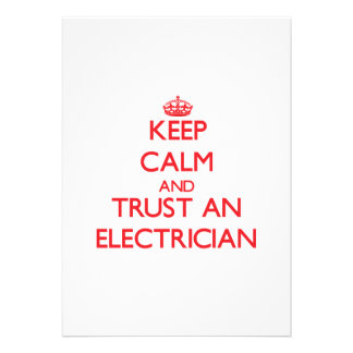 Keep Calm and Trust an Electrician Invite