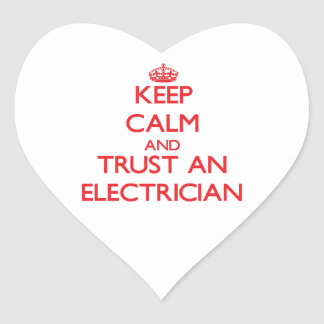 Keep Calm and Trust an Electrician Stickers