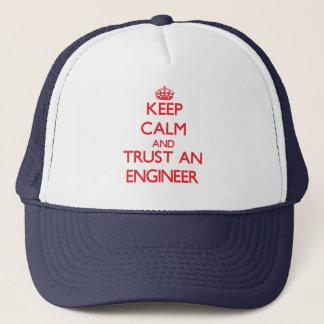 Keep Calm and Trust an Engineer Trucker Hat