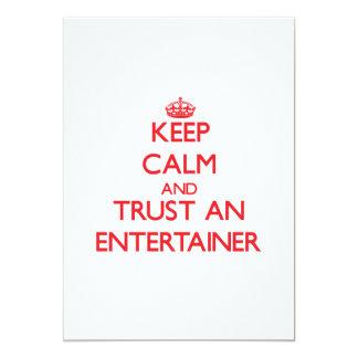 Keep Calm and Trust an Entertainer Custom Invitations